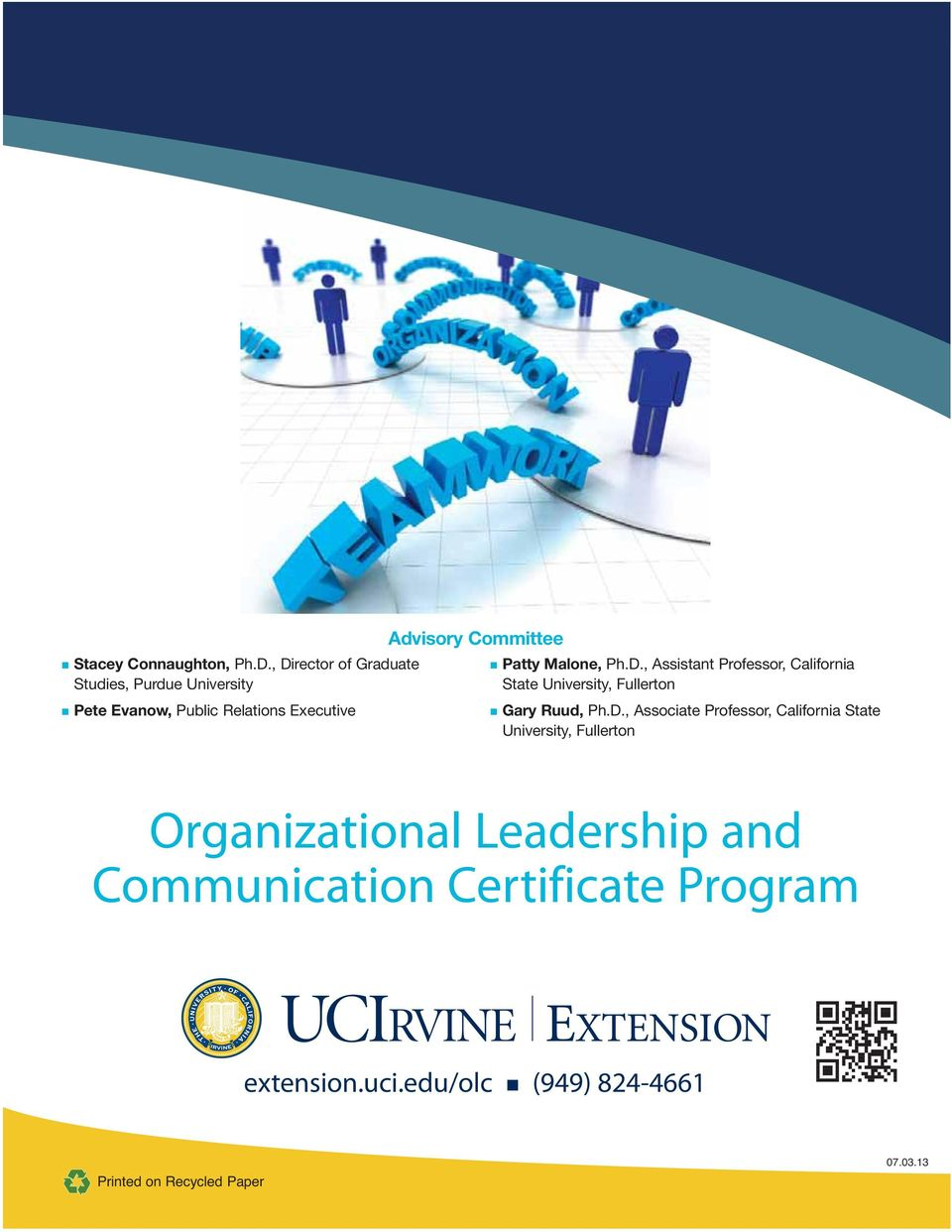 Organizational Leadership and Communication Certificate