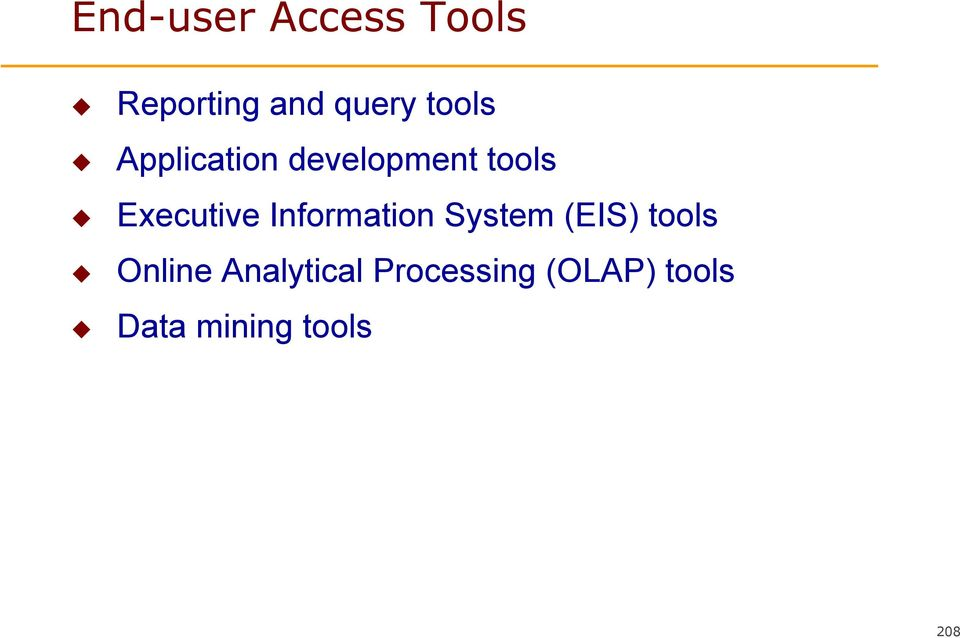 Information System (EIS) tools Online