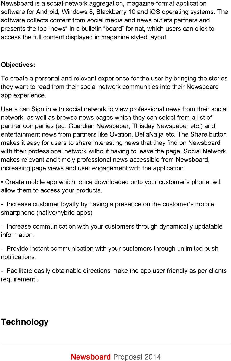 Mobile App Proposal Magazine company- January 12, y  Direct Contact
