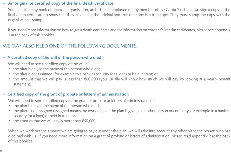 Death Claims A Guide To Claiming Under A Life Assurance Plan Pdf