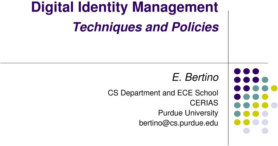 Digital Identity Management Pdf