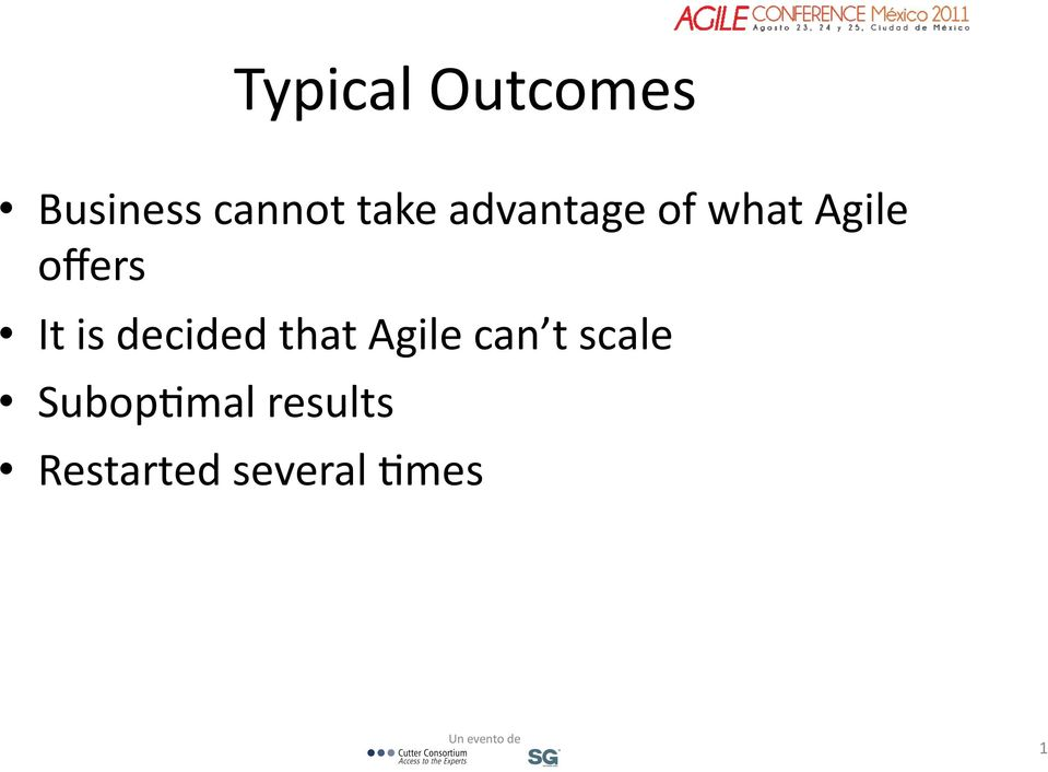 decided that Agile can t scale