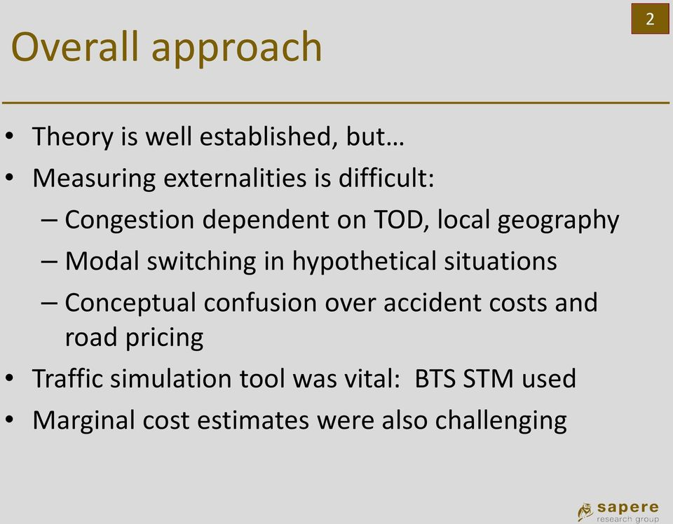 hypothetical situations Conceptual confusion over accident costs and road pricing