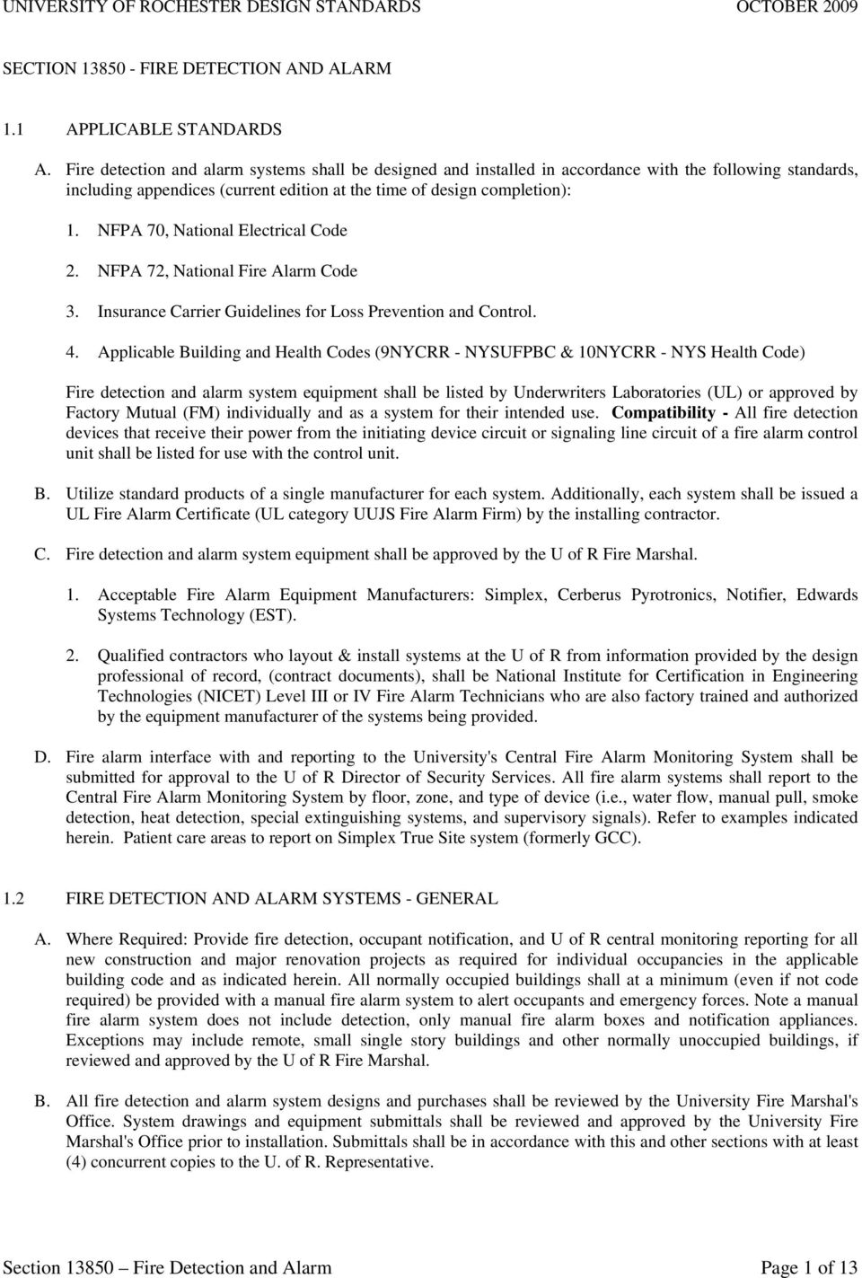 Section Fire Detection And Alarm Page 1 Of 13 Pdf Free Download