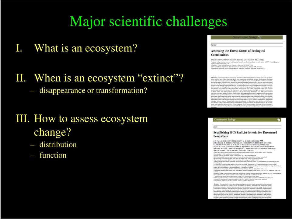 When is an ecosystem extinct?