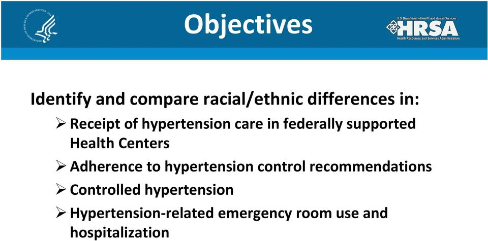 Centers Adherence to hypertension control recommendations