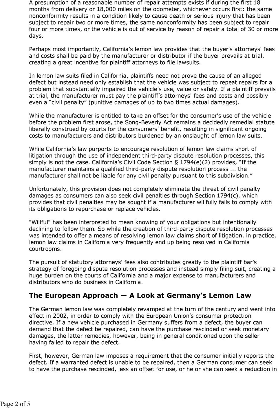 Lemon Law California >> What China S Lemon Law Will Mean For Manufacturers Pdf
