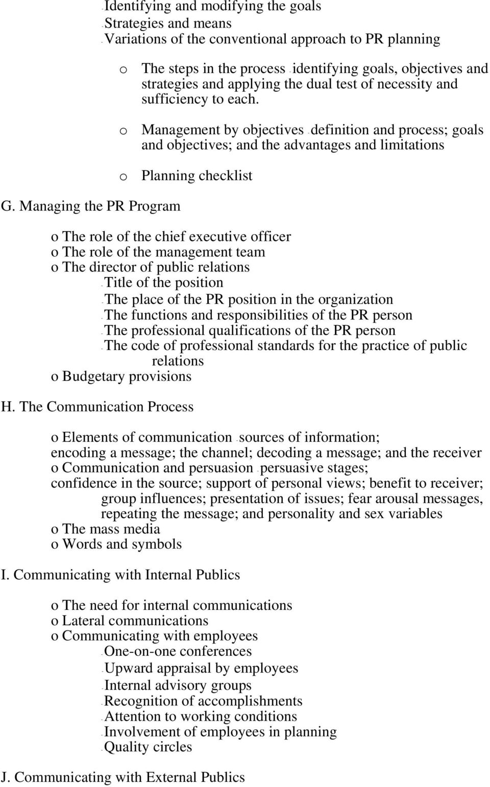 SYLLABUS FOR SCHOOL PUBLIC RELATIONS. A. To create an awareness and  eliminate any misunderstanding of what public relations actually is. - PDF  Free Download