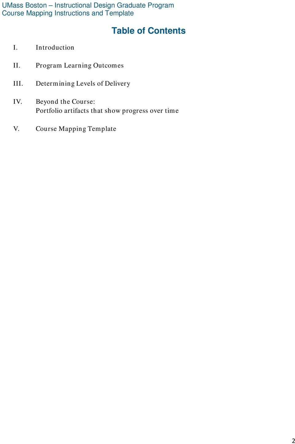 course mapping instructions and template pdf