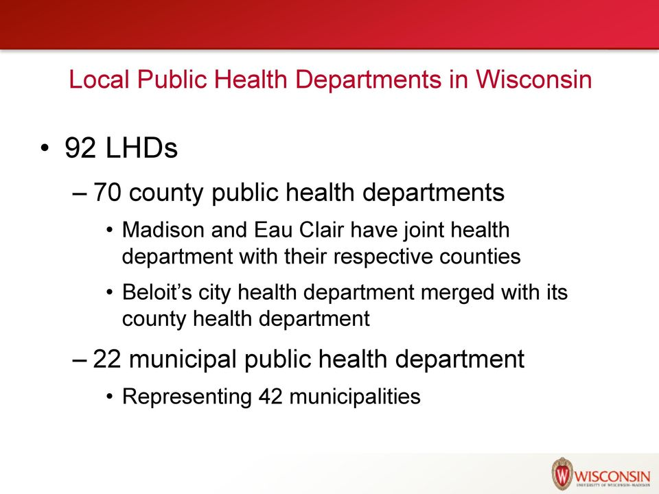 respective counties Beloit s city health department merged with its county
