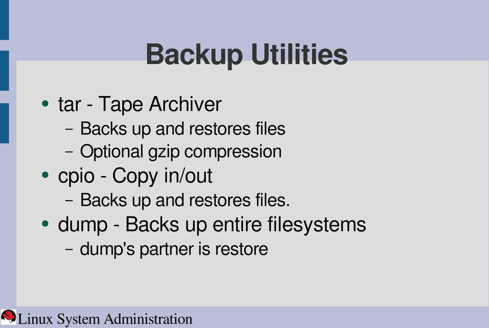 Copy in/out Backs up and restores files.