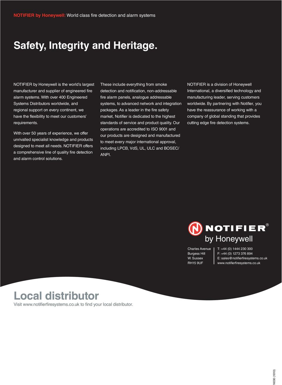 Notifier by Honeywell: Cost Effective Fire Detection and Alarm - PDF