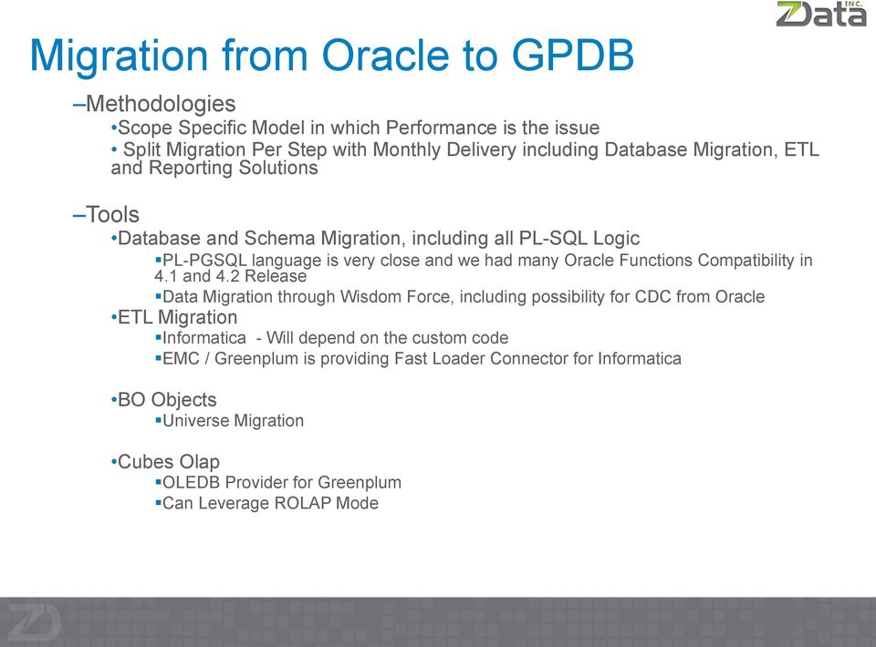 Green Migration from Oracle - PDF