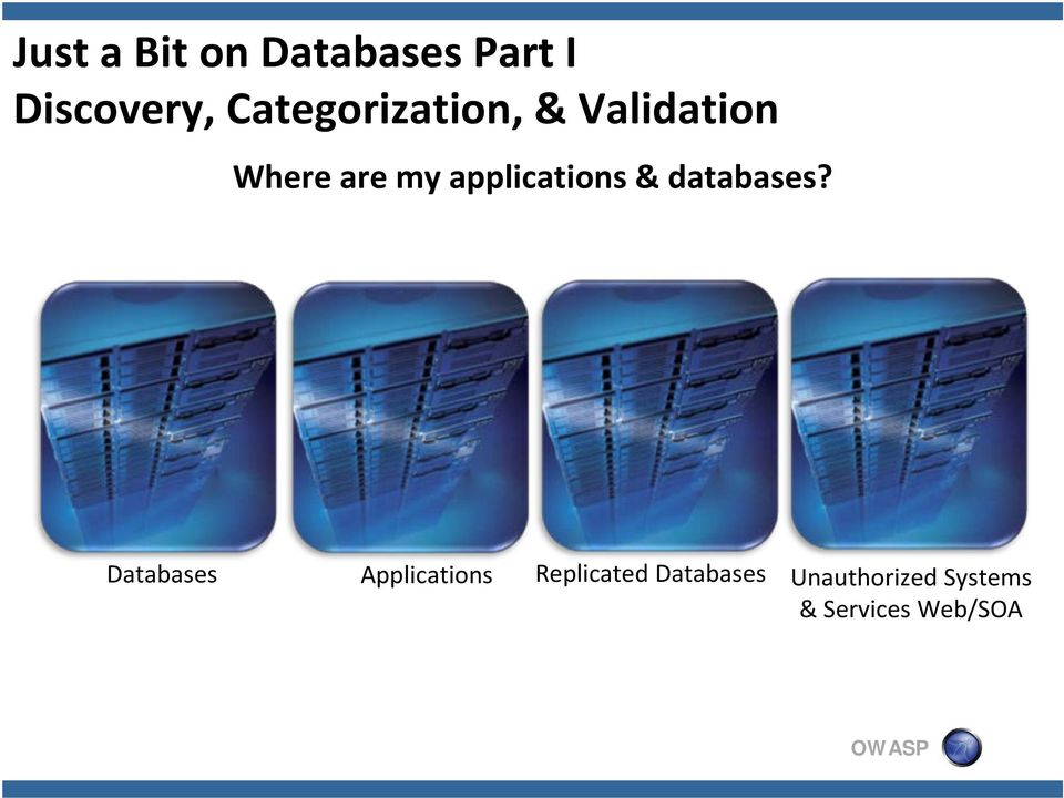 applications & databases?