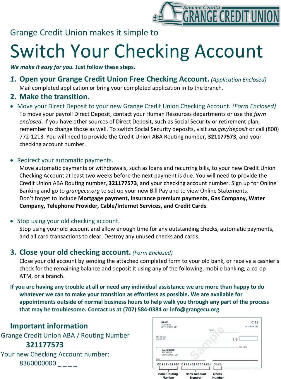 switch your checking account - pdf