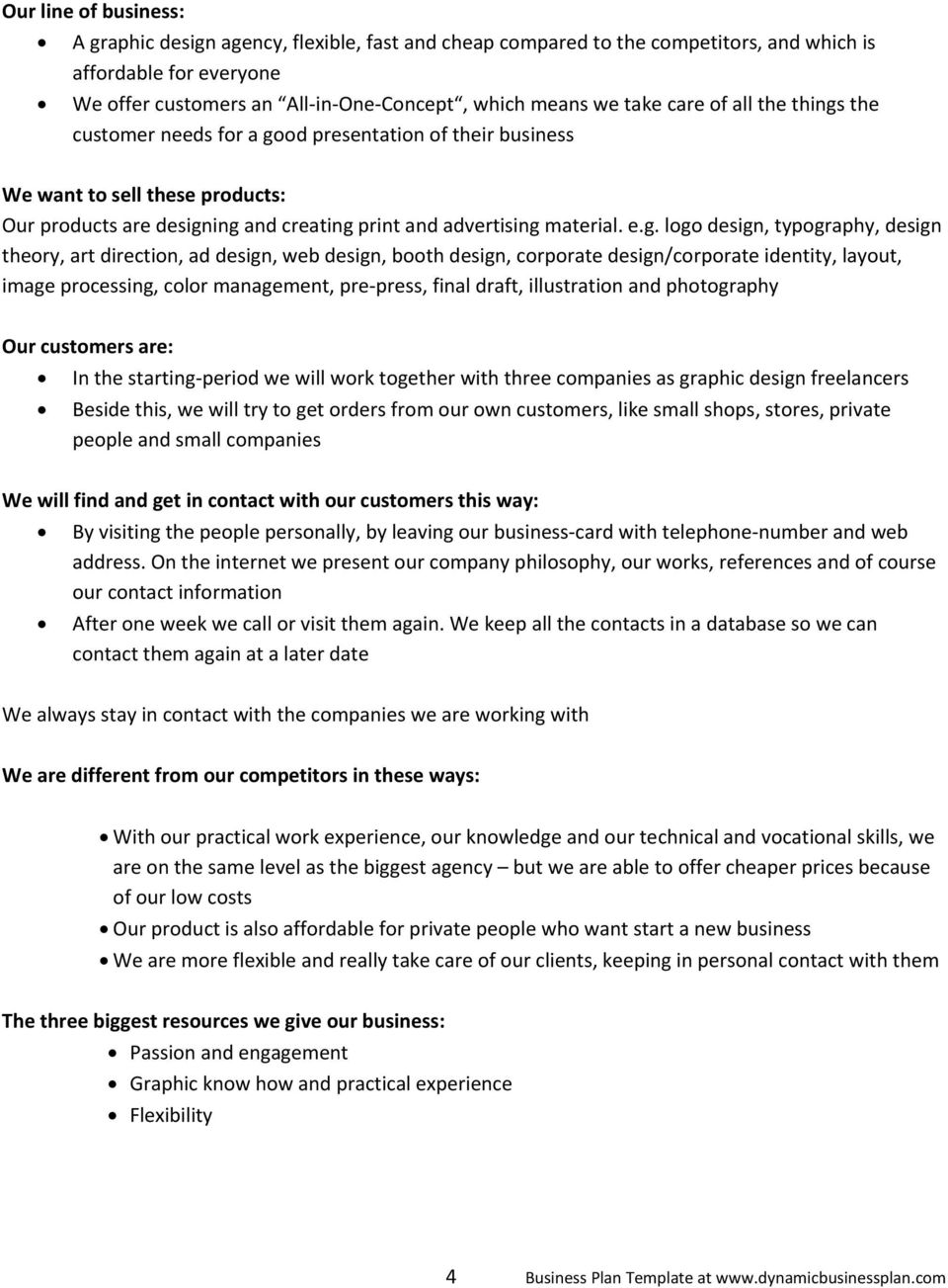 Business plan for pixel bits graphic design pdf business plan template at the customer needs for a go friedricerecipe Images