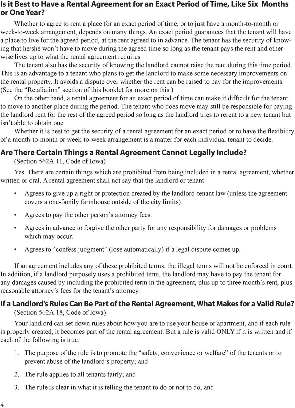 A Guide To Landlord Tenant Law In Iowa Pdf