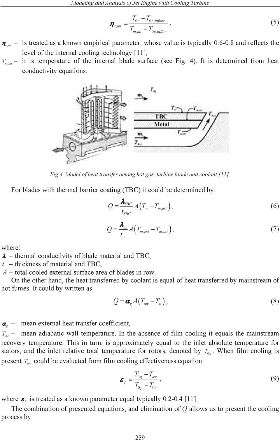 MODELING AND ANALYSIS OF JET ENGINE WITH COOLING TURBINE - PDF