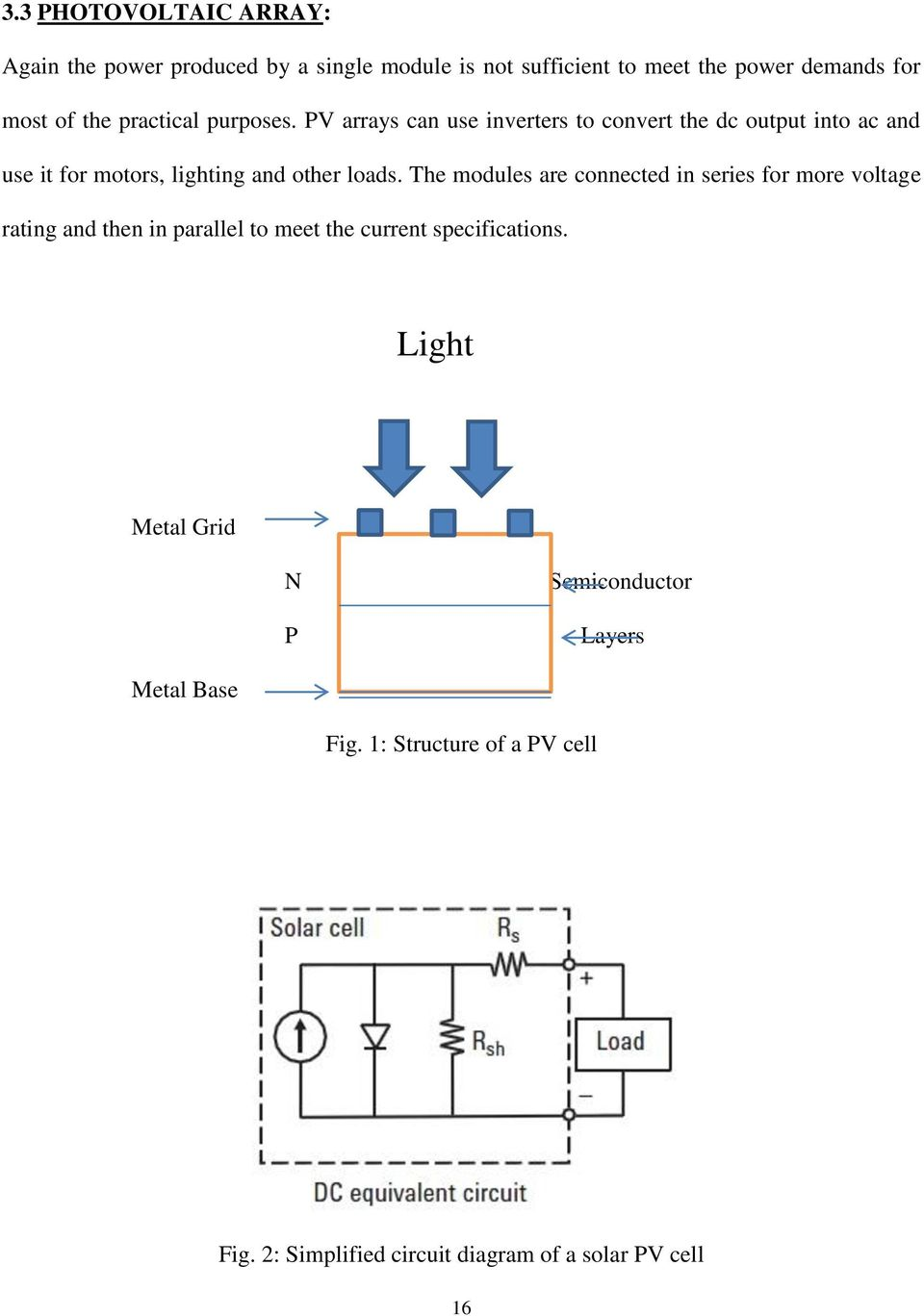 Matlab Based Modeling Of Photovoltaic Array Characteristics Pdf Solar Panel Optimizer Circuit Electronic Projects Diagram A Pv Cell 16 The Modules Are Connected In Series For More Voltage Rating And Then Parallel To Meet