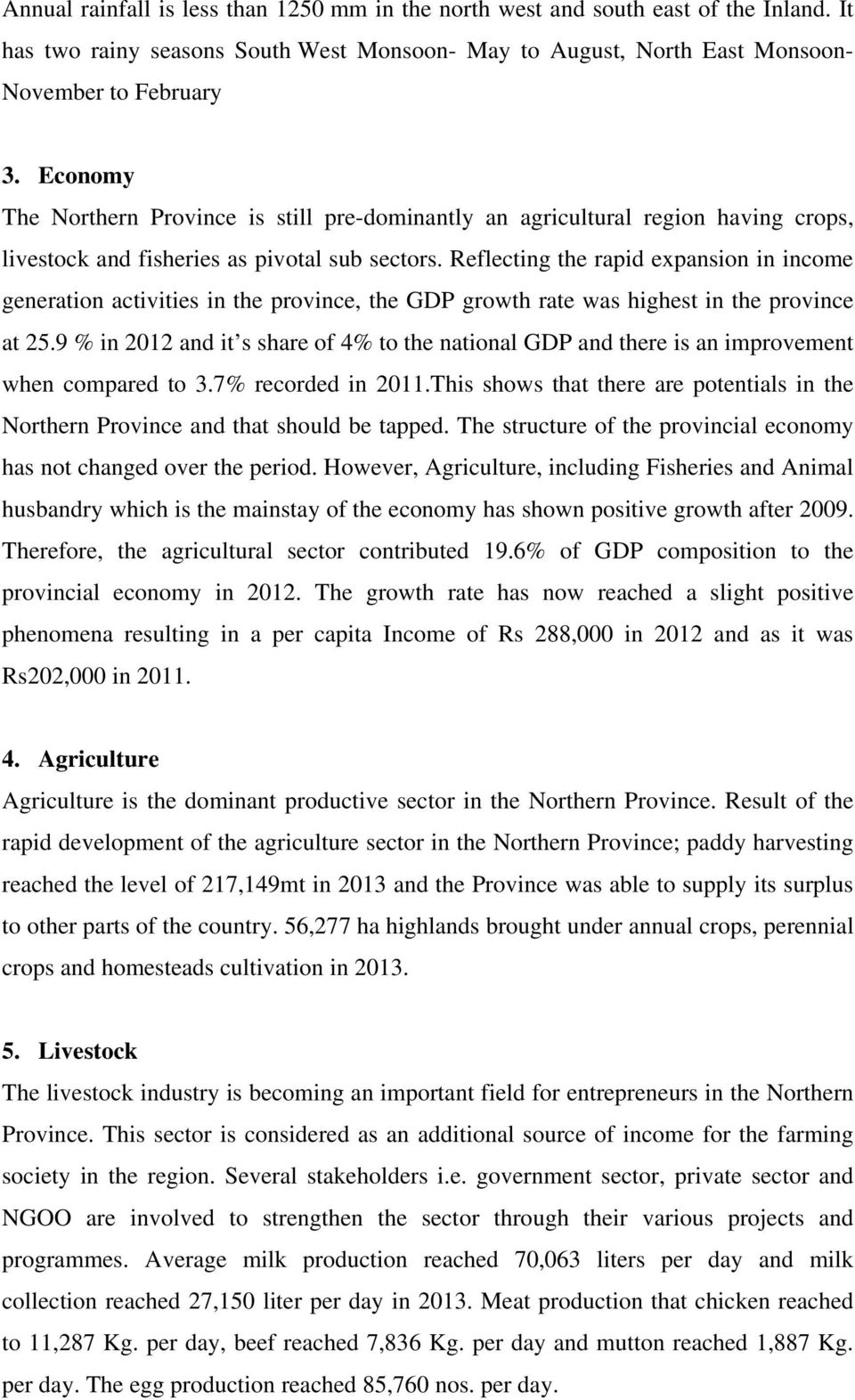 STATISTICAL INFORMATION OF THE NORTHERN PROVINCE - PDF