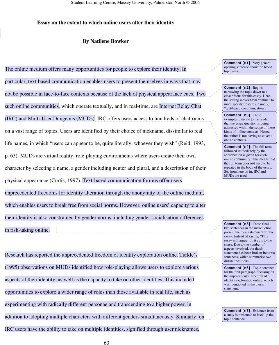 Modest Proposal Essay Two Such Online Communities Which Operate Textually And In Realtime Are Process Paper Essay also Locavore Synthesis Essay Essay On The Extent To Which Online Users Alter Their Identity By  Health Care Essays