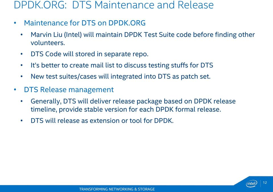 Data Plane Development Kit Test Suite - PDF