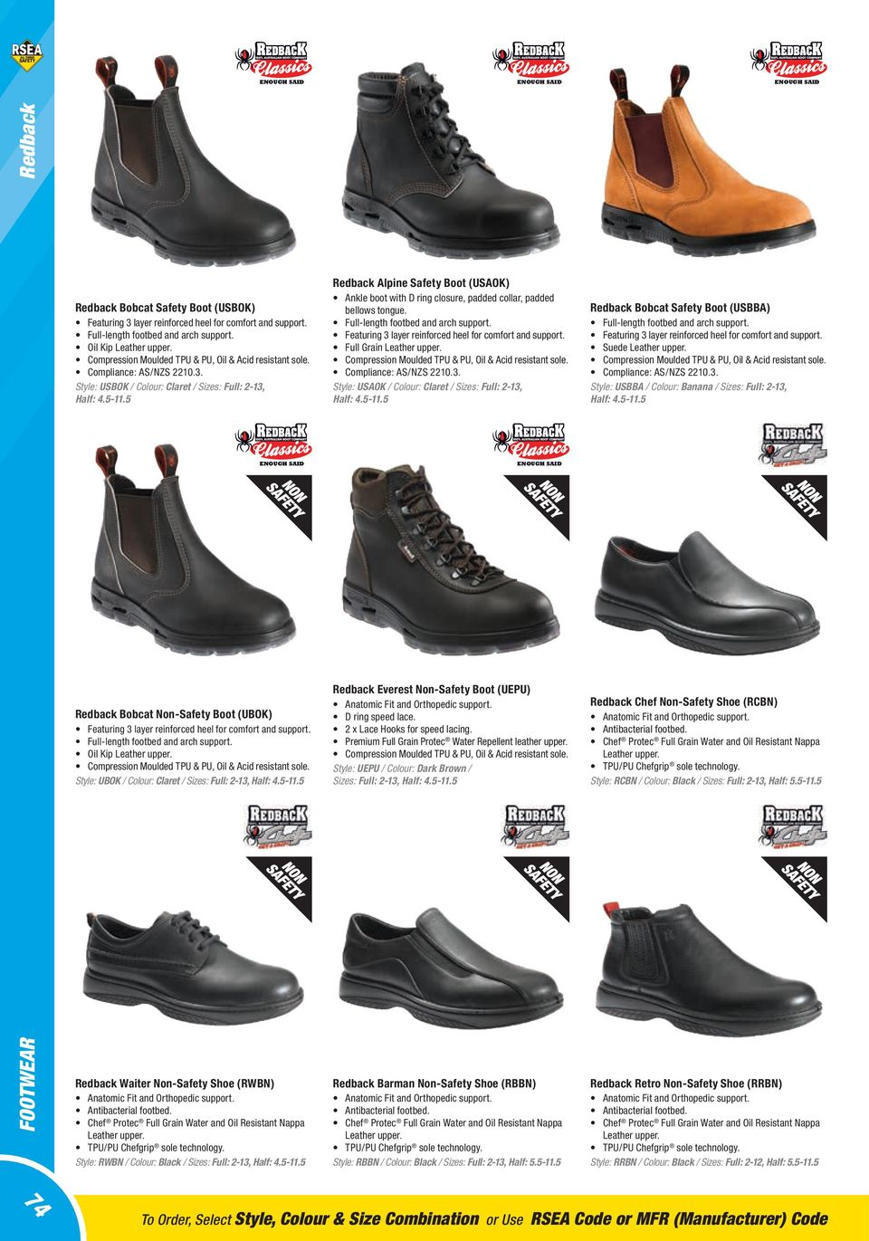 Footwear Australian New Zealand Standards 58 Preventing Cut Engineer Shoes Safety Boots Iron Suede Leather Soft Brown 5 Redback Alpine Boot Usaok Ankle With D Ring Closure Padded