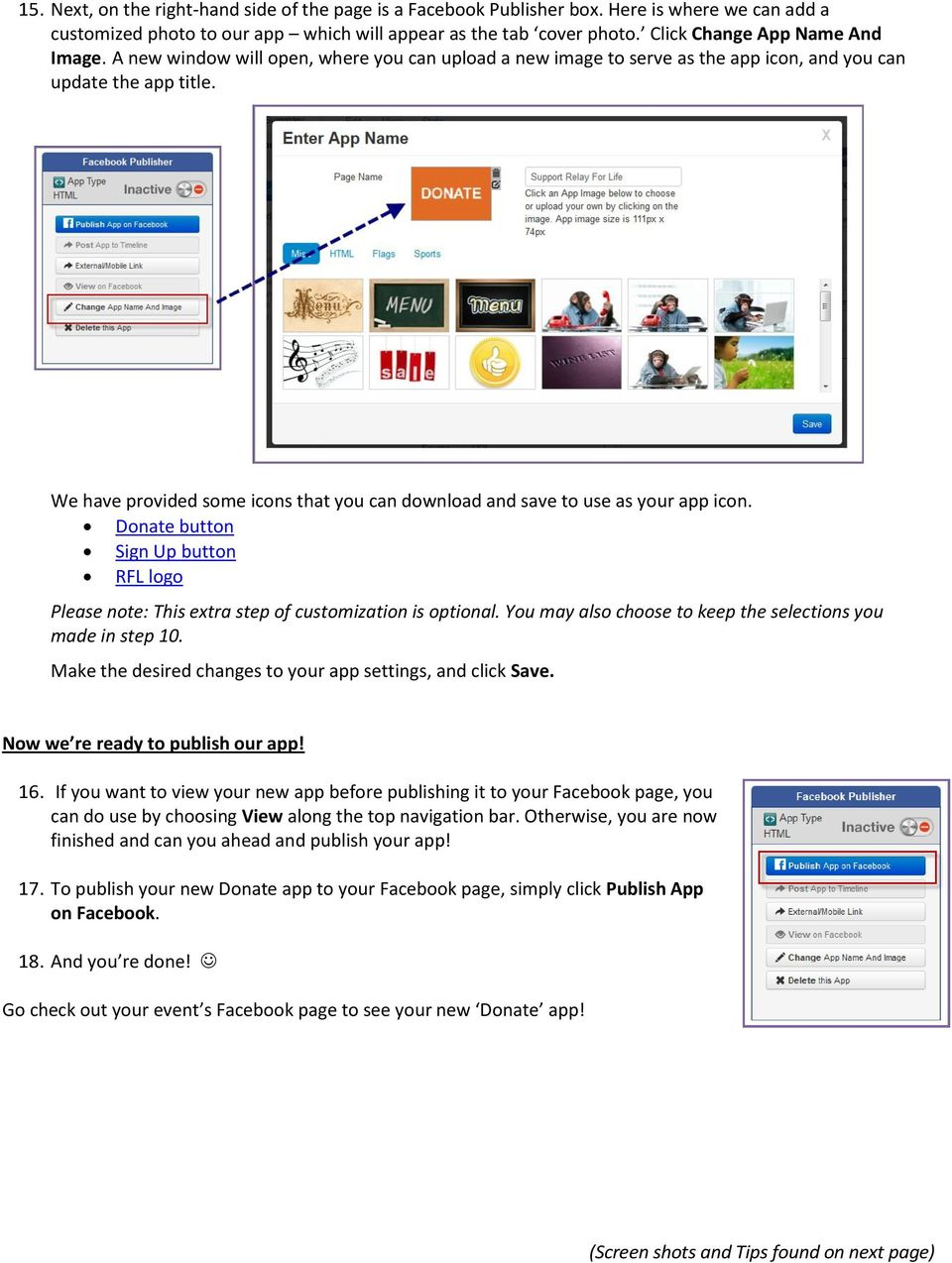 Relay Online How To: Add an App to Your Event Facebook Page +