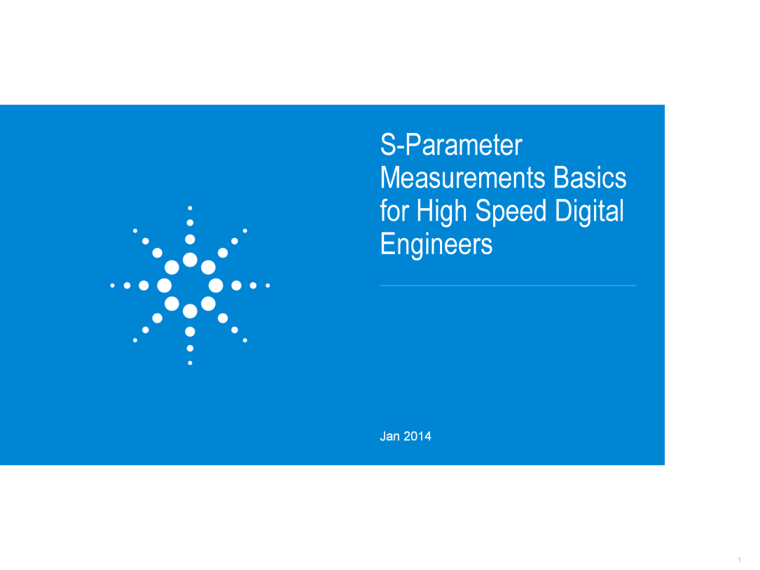 S Parameter Measurements Basics For High Speed Digital Engineers Frequencydependent Circuits Frequency Dependent Effects Are Becoming More