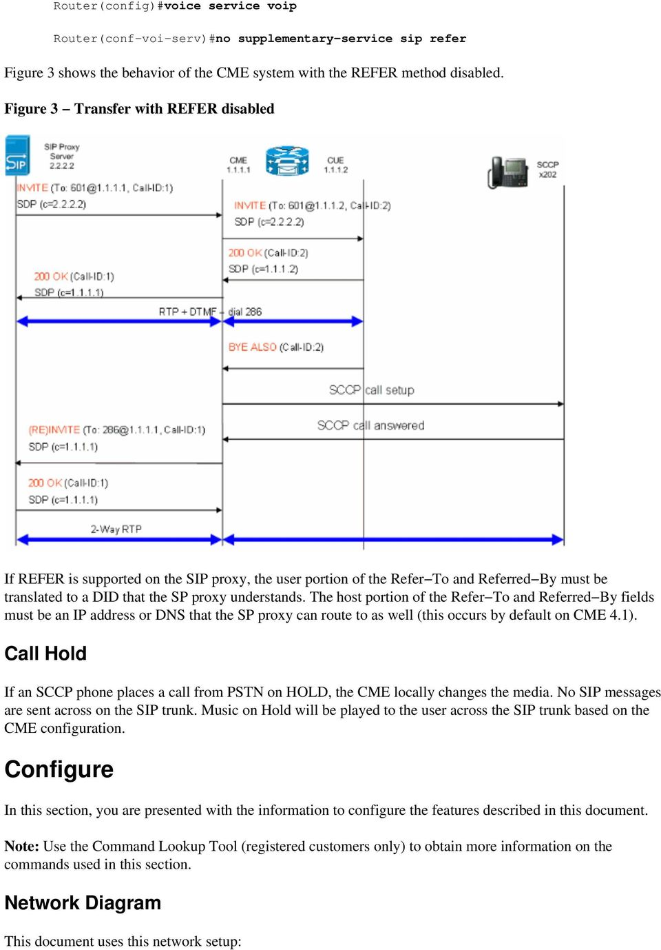 Cisco CallManager Express (CME) SIP Trunking Configuration