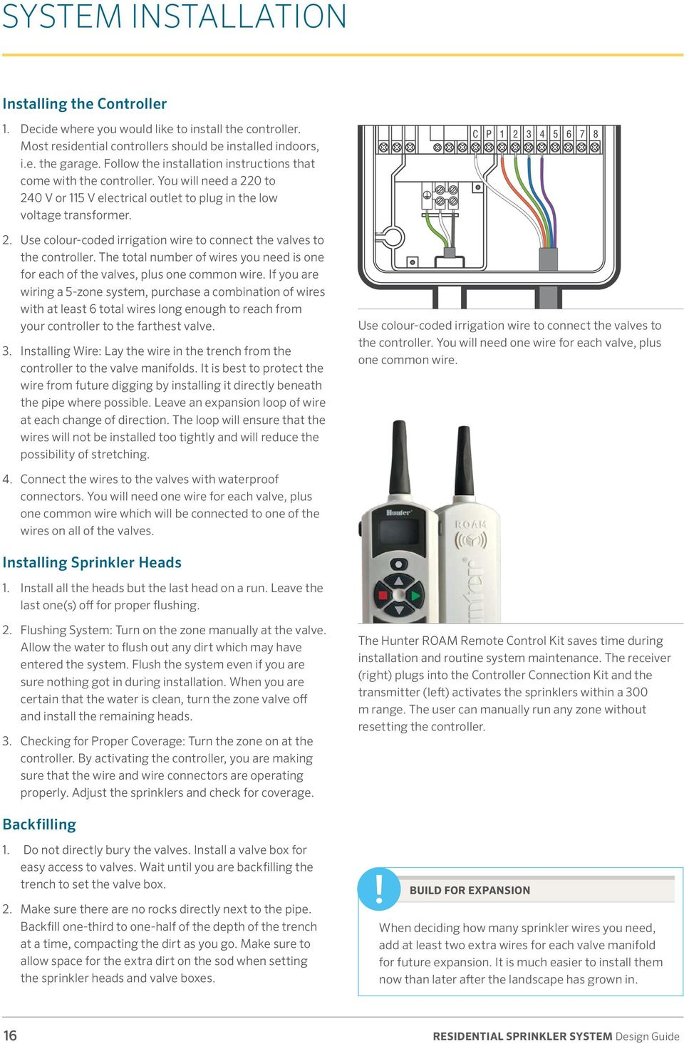 Residential Sprinkler System Pdf Zone Wiring Box The Total Number Of Wires You Need Is One For Each Valves Plus