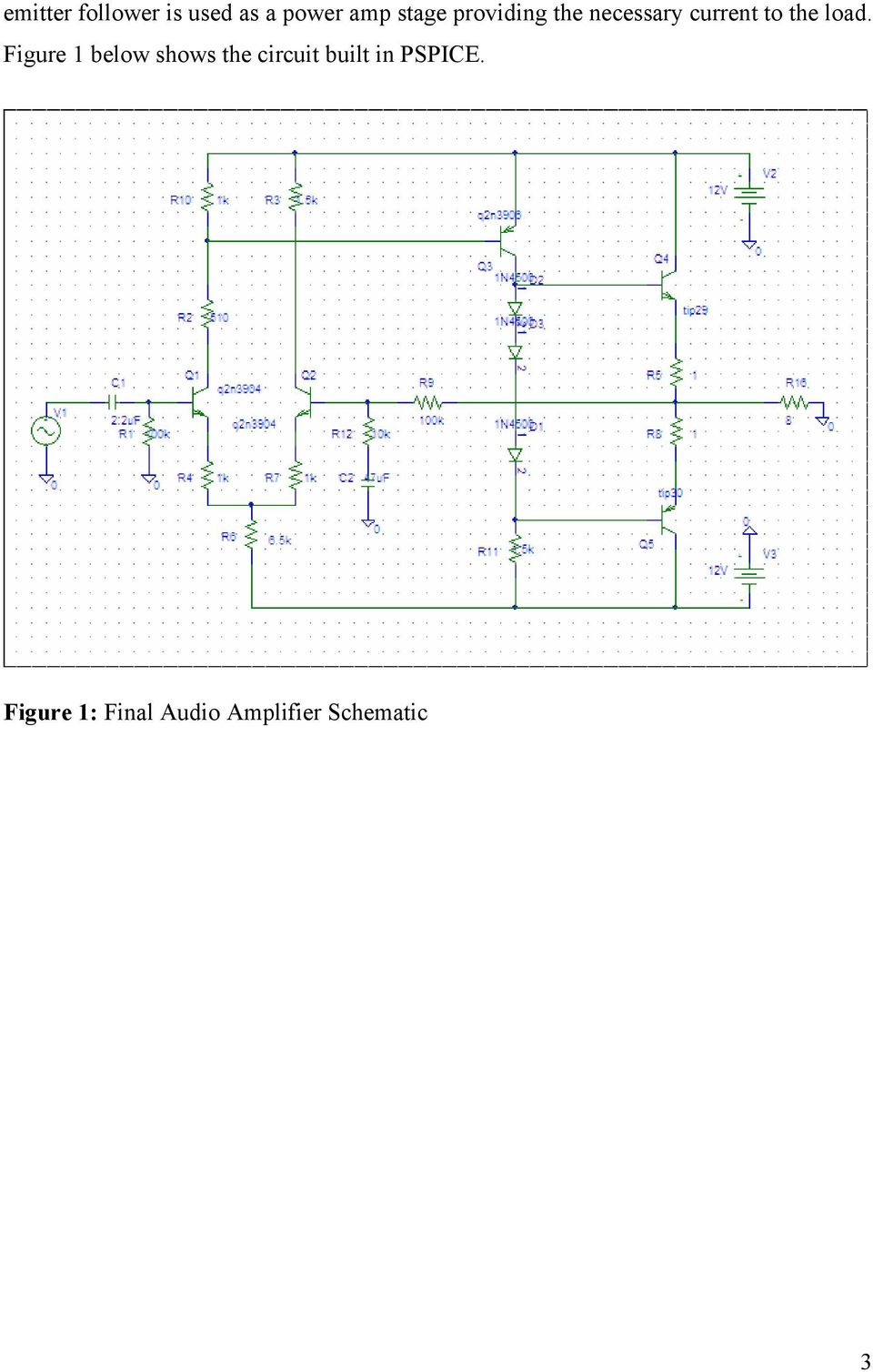 Design And Build Your Own Audio Amplifier Pdf Guidelines For Bipolar Transistor Preamplifier Circuits Figure Below Shows The Circuit Built In