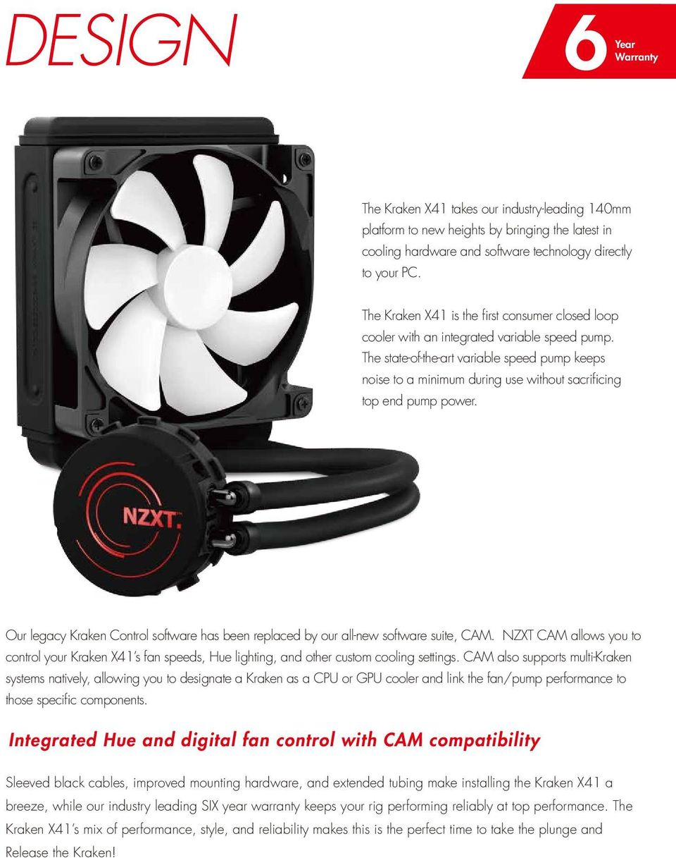 Kraken X41 The Worlds First Variable Speed Liquid Cooler Pdf How To Wire Your Electric Fan Controller Wiring State Of Art Pump Keeps Noise A Minimum