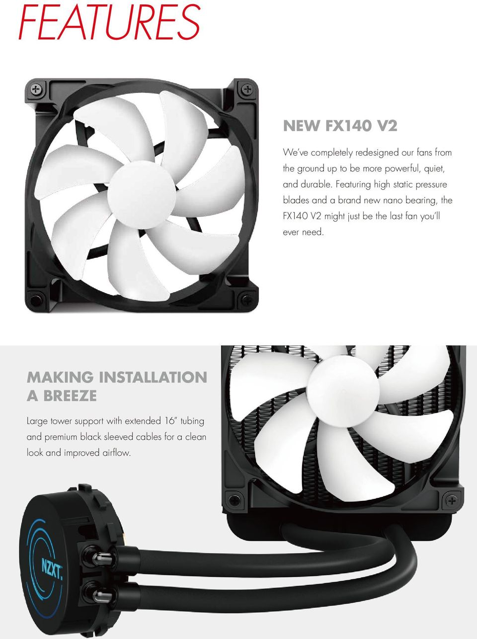 Kraken X41 The Worlds First Variable Speed Liquid Cooler Pdf Wiring 3 Pin Cpu Fan Zalman Free Download Diagrams Pictures Featuring High Static Pressure Blades And A Brand New Nano Bearing Fx140 V2 Might