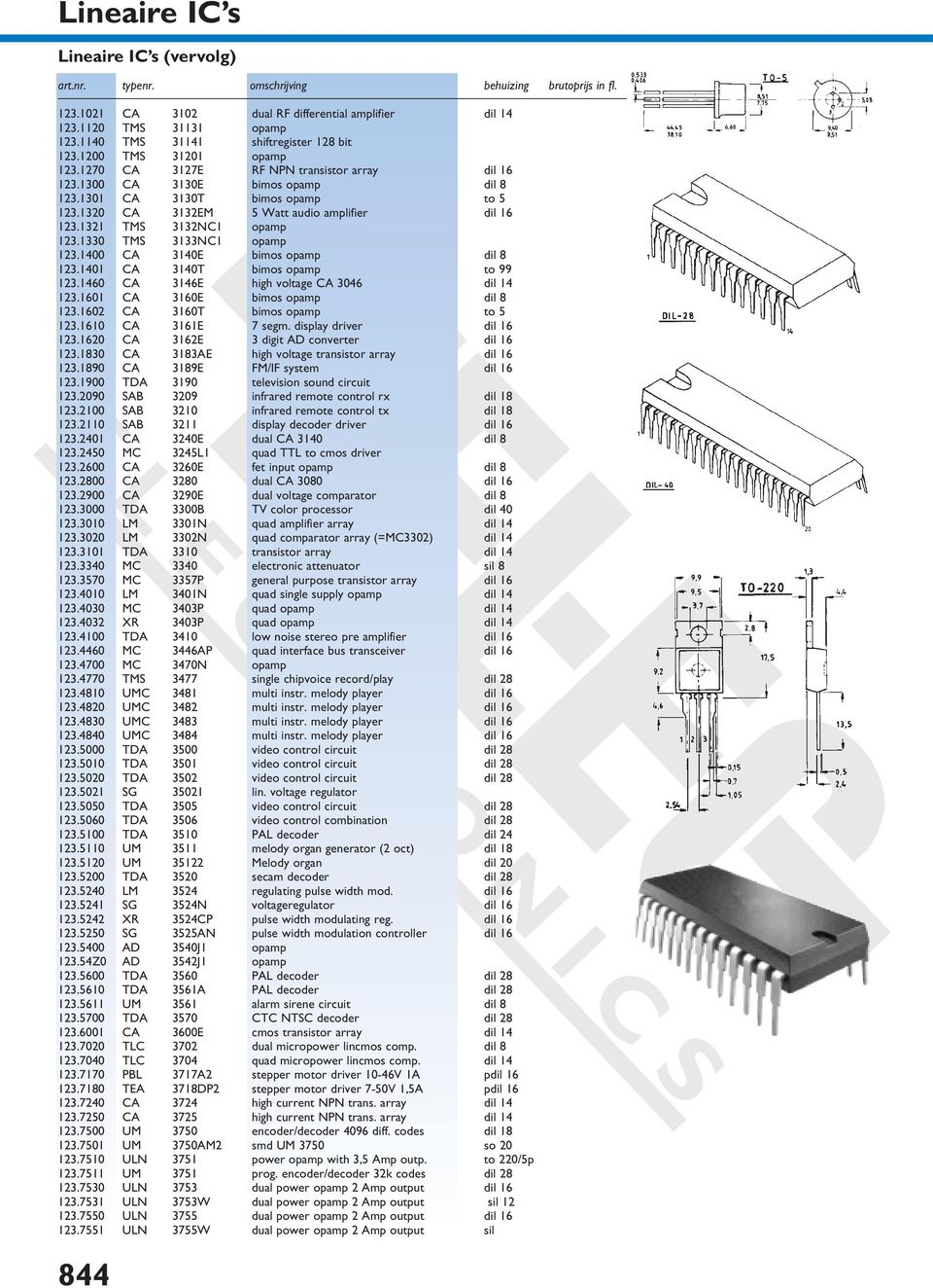 Electronics Lineaire Ic S Pdf Rs Flip Flop Using Op Amp 1400 Ca 3140e Bimos Opamp Dil 8 1231401 3140t To 99 1231460