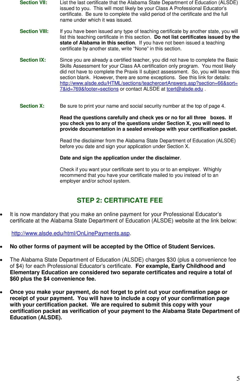 Uab Certification Handbook For Class Aa Certification Only Students