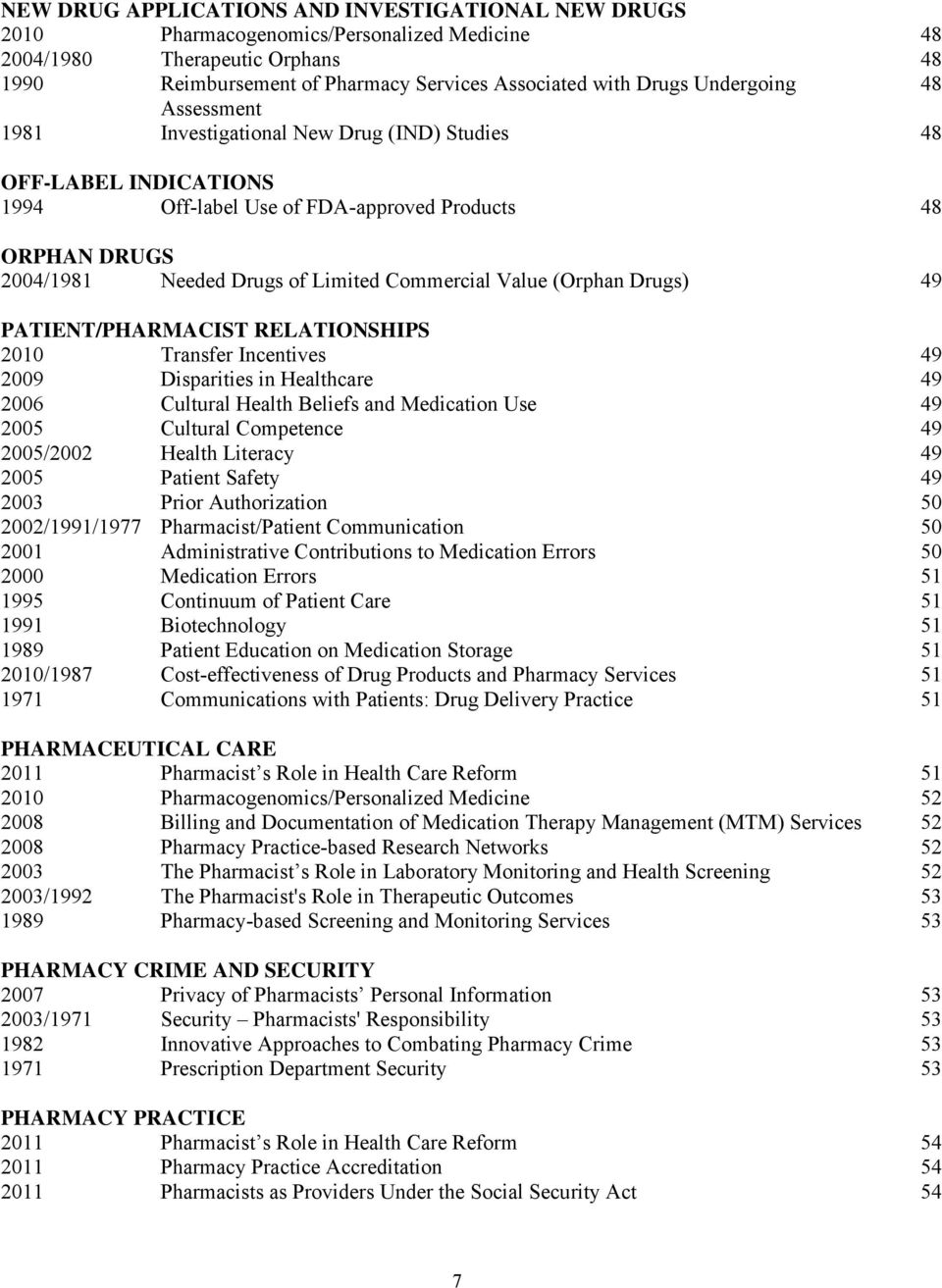 Current Adopted APhA Policy Statements - PDF