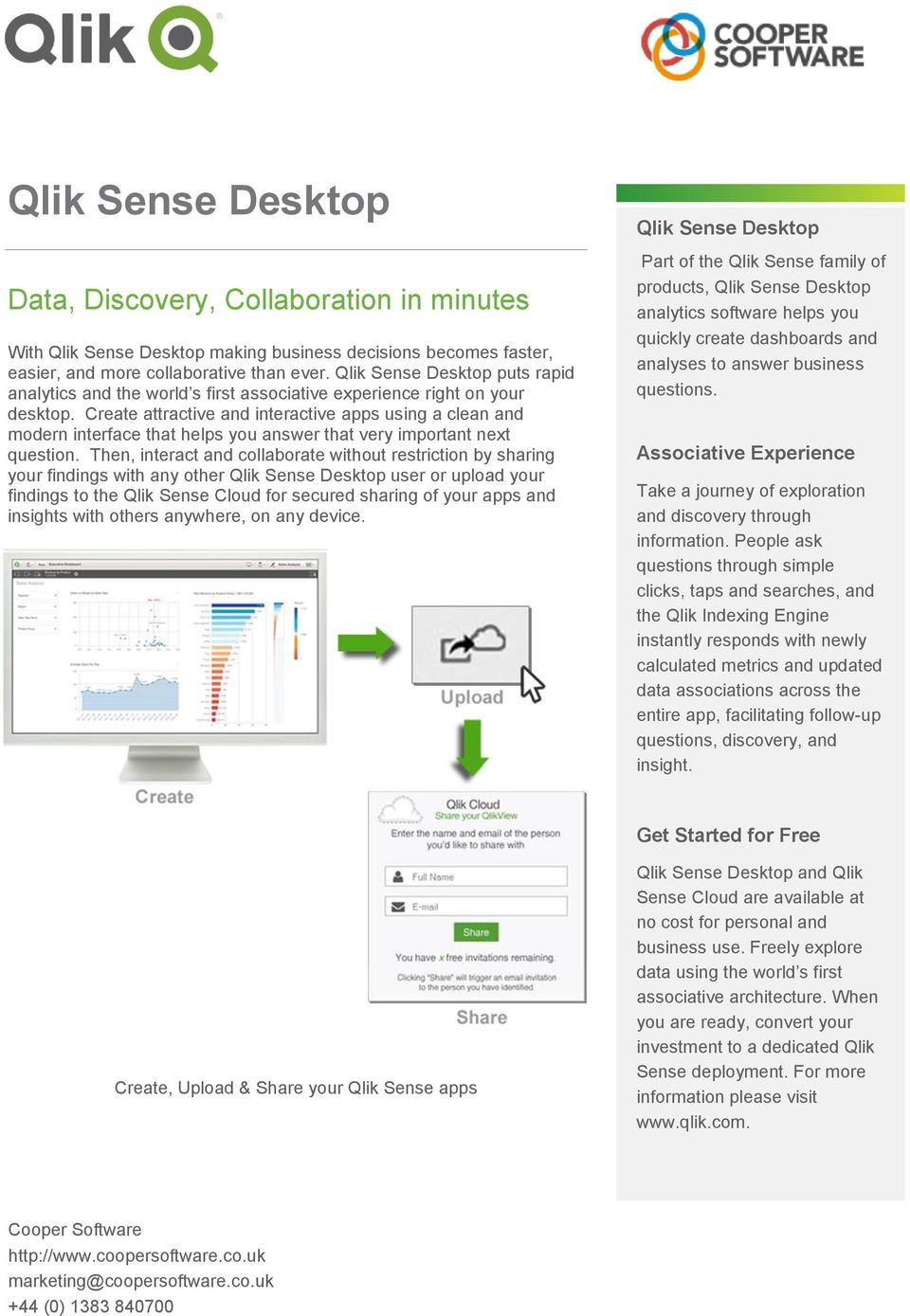 Qlik Sense Desktop  Data, Discovery, Collaboration in