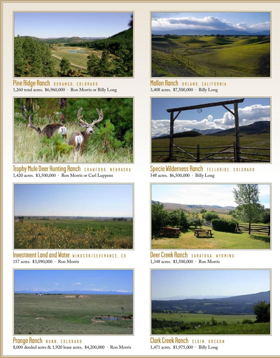 RANCH JOURNAL  Rural & Ranch Real Estate - Still the secure
