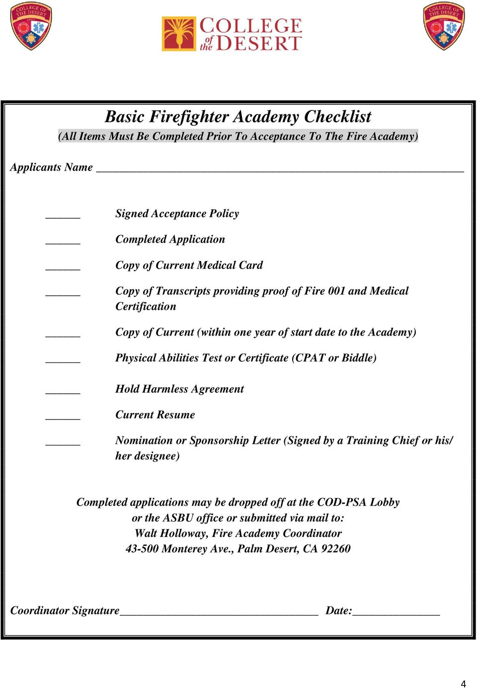 Prerequisites For The Fire Academy Pdf
