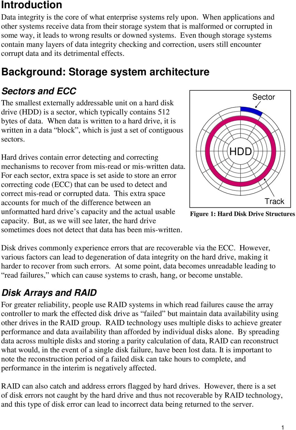 Silent data corruption in disk arrays: A solution - PDF