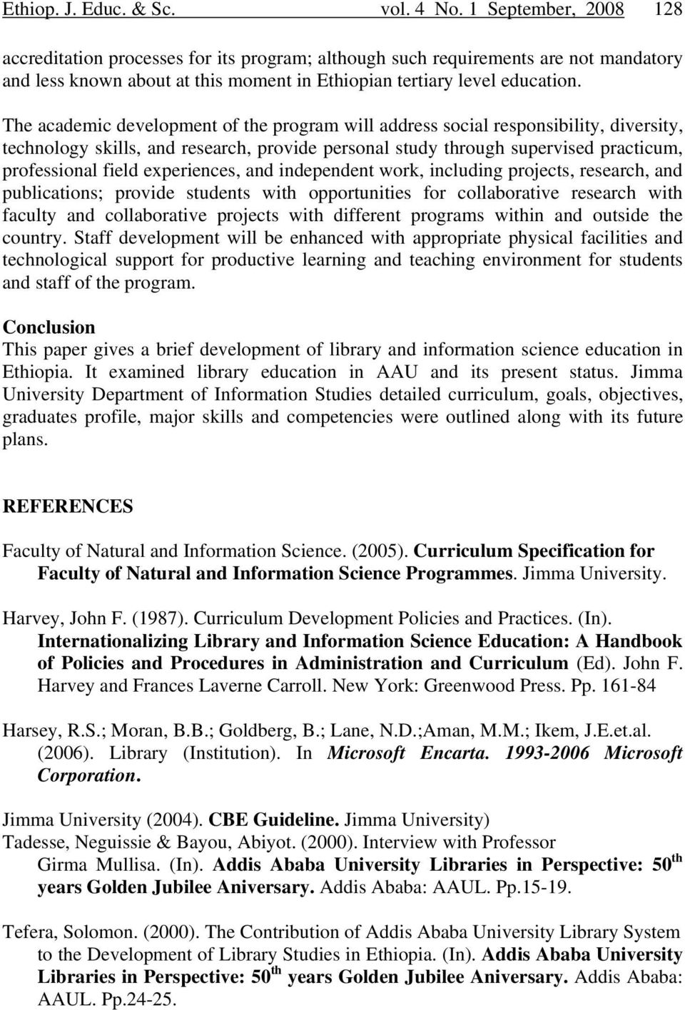 Library and Information Science Education in Ethiopia - PDF