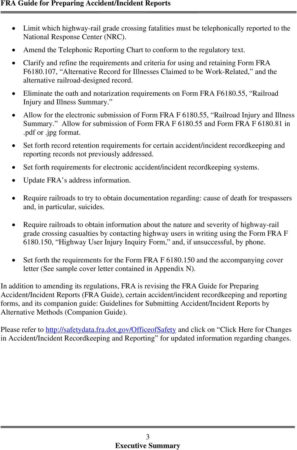 FRA Guide for Preparing Accident/Incident Reports - PDF
