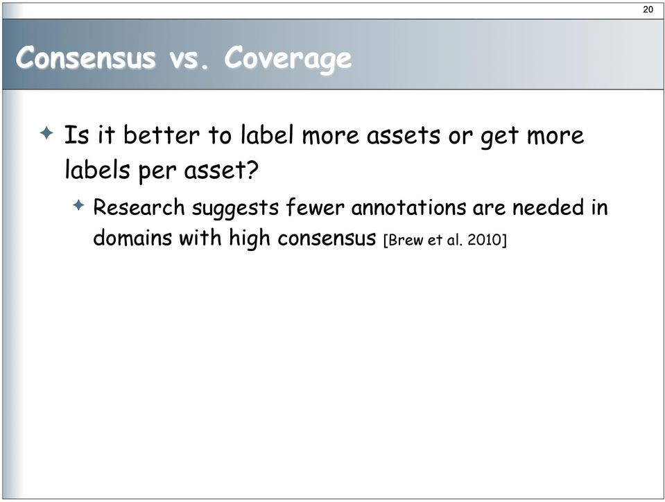 labels per asset?