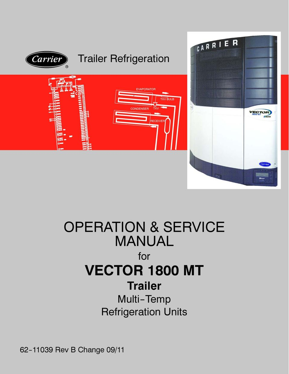 operation service manual for vector 1800 mt trailer multi temp rh docplayer net Carrier Vector 1550 Carrier Vector 1550