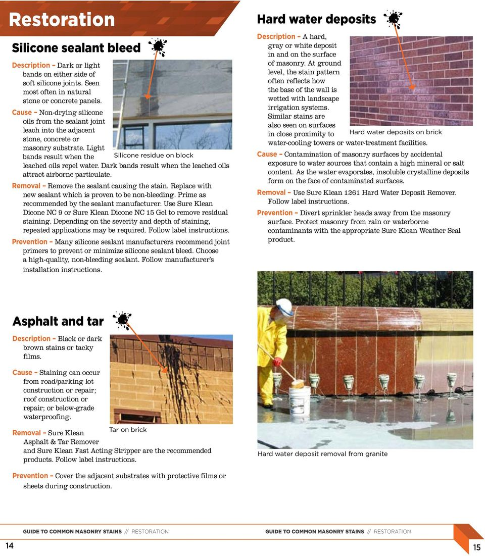Guide to common masonry stains - PDF