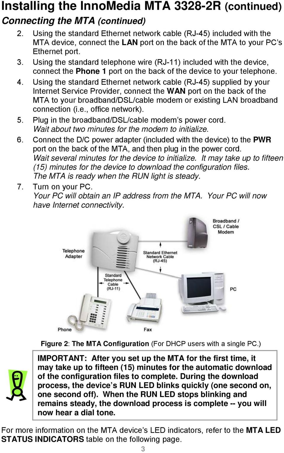 Voiceline Getting Started Guide Innomedia Mta R Pdf Standard Telephone Cable Wiring Using The Wire Rj 11 Included With Device Connect