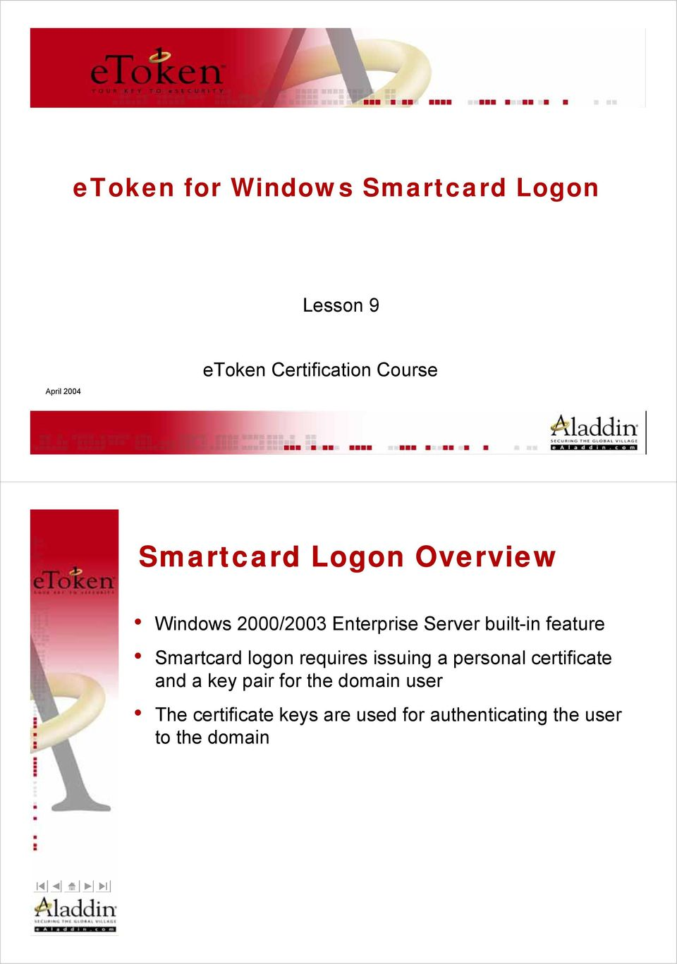feature Smartcard logon requires issuing a personal certificate and a key pair