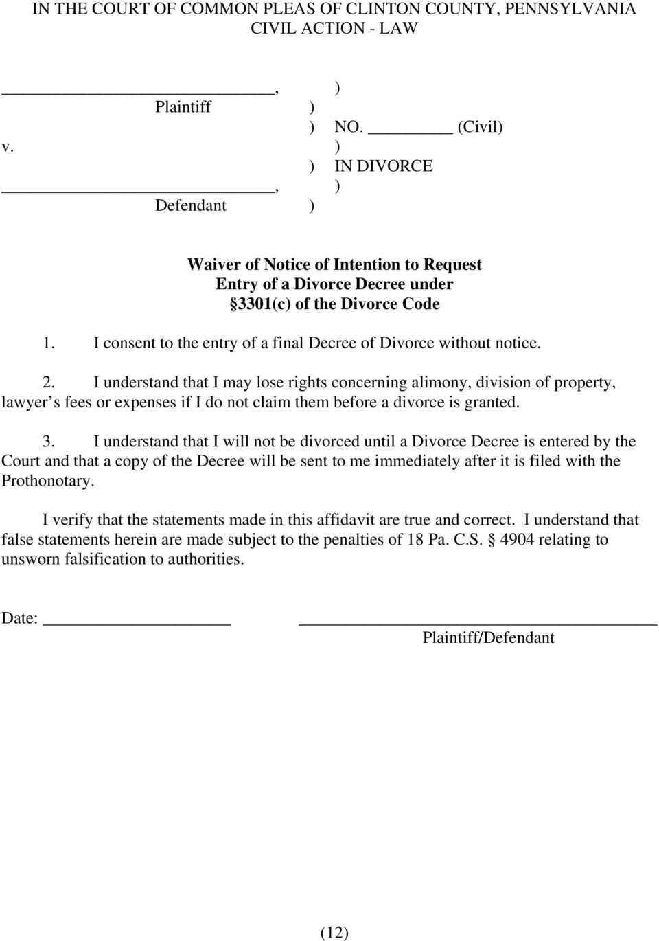 Divorce packet important pdf i understand that i may lose rights concerning alimony division of property lawyer s solutioingenieria Image collections
