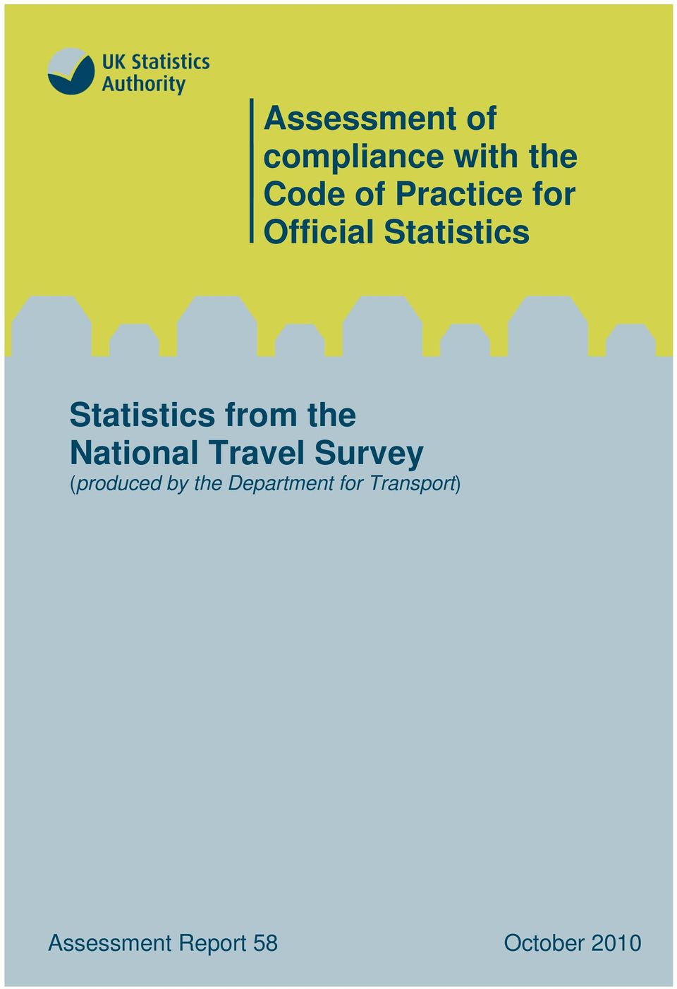 the National Travel Survey (produced by the